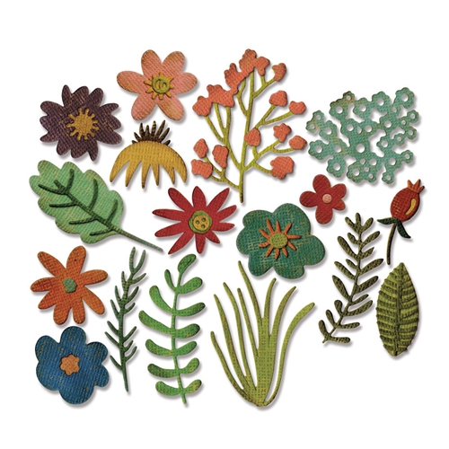 Tim Holtz Sizzix FUNKY FLORAL 1 Thinlits Die 662700 Preview Image