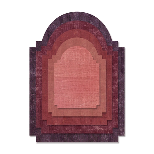 Tim Holtz Sizzix STACKED ARCHWAY Thinlits Die 662692 Preview Image