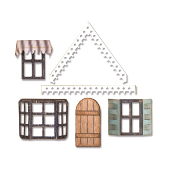 Tim Holtz Sizzix VILLAGE FIXER UPPER Thinlits Die 662699