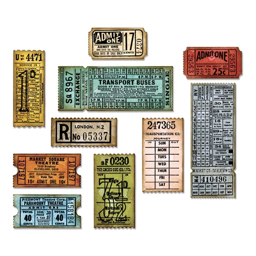 RESERVE Tim Holtz Sizzix TICKET BOOTH Thinlits Die 662698 Preview Image