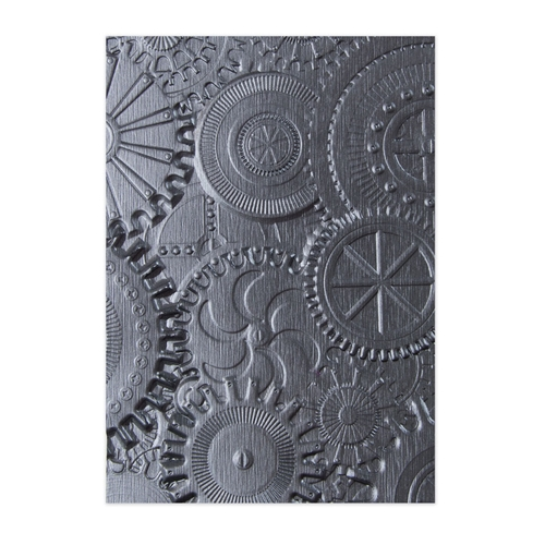 Tim Holtz Sizzix MECHANICS 3D Texture Fades Embossing Folder 662715 Preview Image