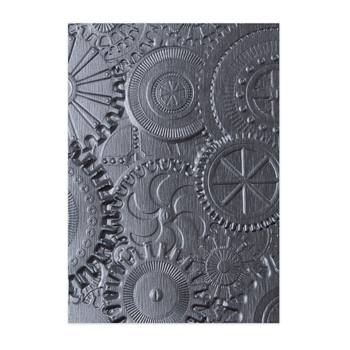 Tim Holtz Sizzix MECHANICS 3D Texture Fades Embossing Folder 662715