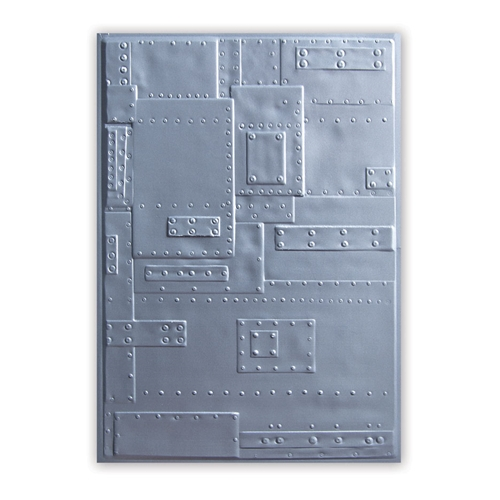 Tim Holtz Sizzix FOUNDRY 3D Texture Fades Embossing Folder 662717 Preview Image