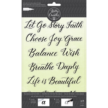 Kelly Creates TRACEABLE QUOTES 1 Clear Stamps 346400