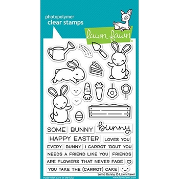 Lawn Fawn SOME BUNNY Clear Stamps LF1587
