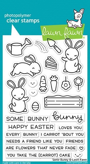 Lawn Fawn SOME BUNNY Clear Stamps LF1587 zoom image