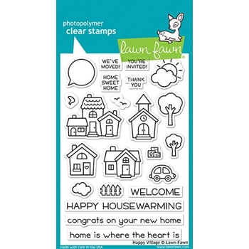 Lawn Fawn HAPPY VILLAGE Clear Stamps LF1591