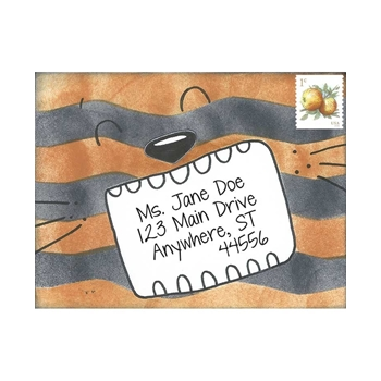 Inky Antics TERRIFIC TIGER Cling Stamp Set Mail Pals icl3-105