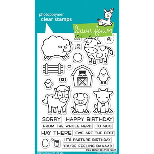 Lawn Fawn Hay There Clear Stamp Set