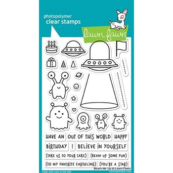 Lawn Fawn BEAM ME UP Clear Stamps LF1597
