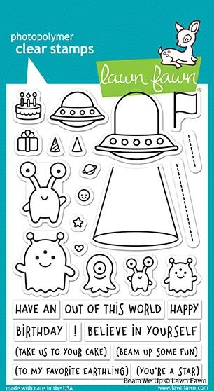 Lawn Fawn BEAM ME UP Clear Stamps LF1597 zoom image