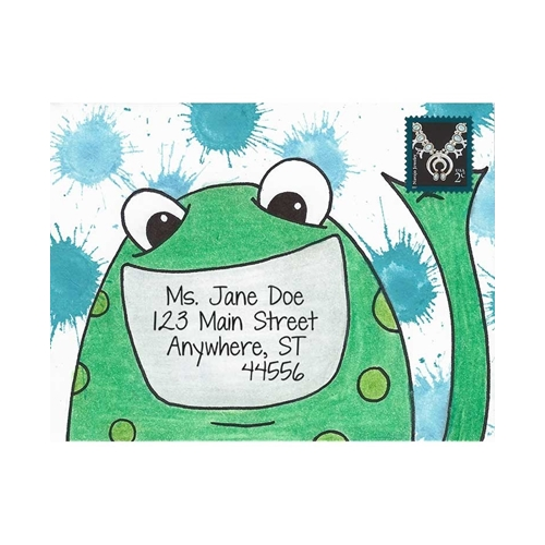 Inky Antics FRIENDLY FROG Cling Stamp Set Mail Pals icl3-102 Preview Image