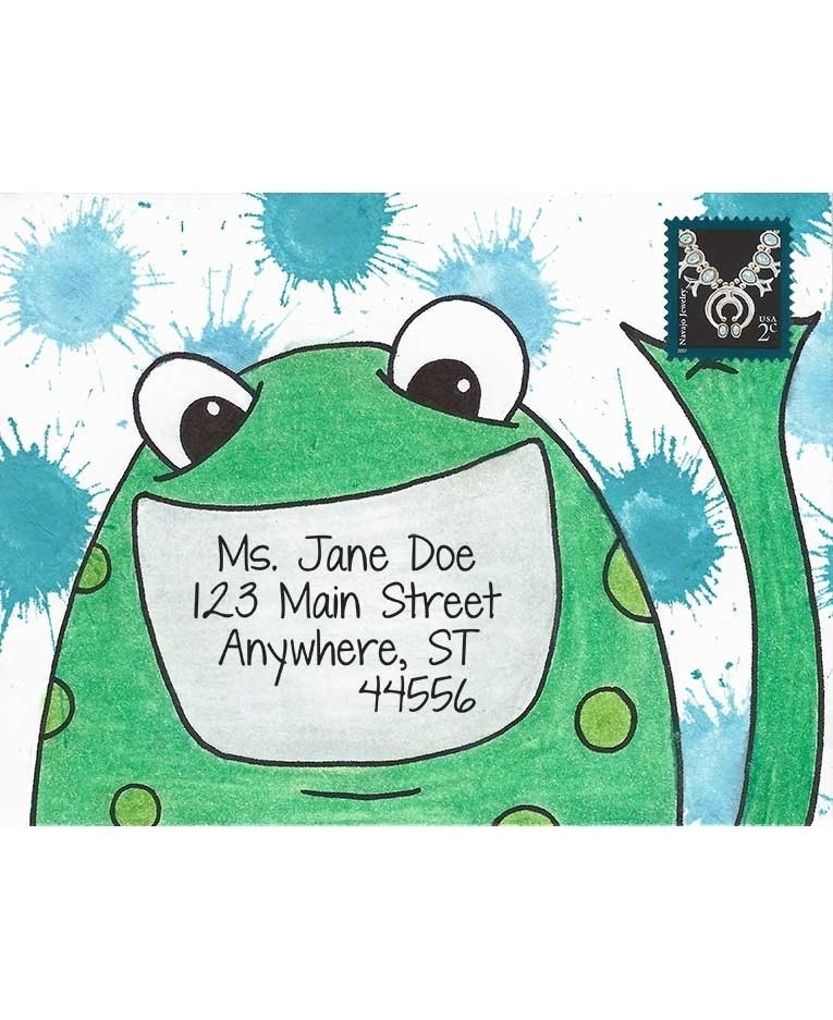 Inky Antics FRIENDLY FROG Cling Stamp Set Mail Pals icl3-102 zoom image