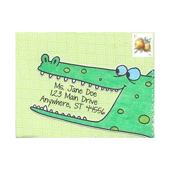 Inky Antics AMUSED ALLIGATOR Cling Stamp Set Mail Pals icl3-100