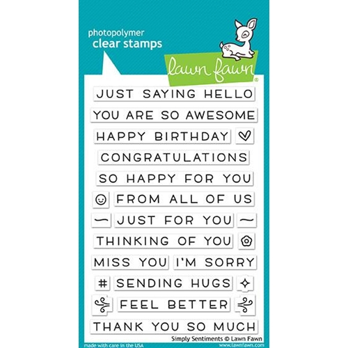Lawn Fawn SIMPLY SENTIMENTS Clear Stamps LF1601 Preview Image