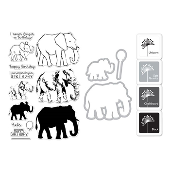 Hero Arts Color Layering ELEPHANT Bundle SB183
