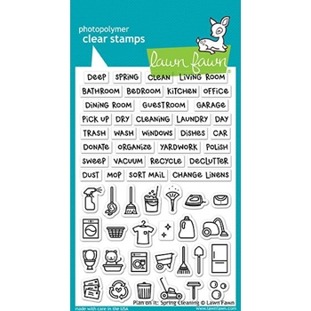 Lawn Fawn PLAN ON IT SPRING CLEANING Clear Stamps LF1607