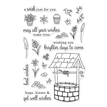 Hero Arts Clear Stamps WISHING WELL CM240*