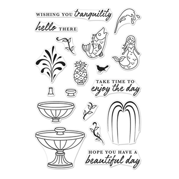 Hero Arts Clear Stamps MAKE A FOUNTAIN CM234