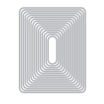 Hero Arts Nesting ROUNDED RECTANGLES Infinity Dies DI465