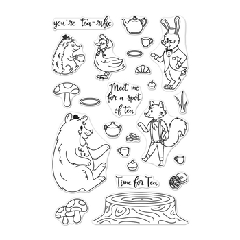 Hero Arts CLear Stamps WOODLAND TEA PARTY CM229