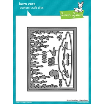 Lawn Fawn BAYOU BACKDROP Lawn Cuts LF1624
