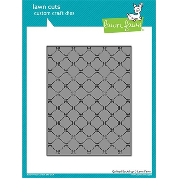 RESERVE Lawn Fawn QUILTED BACKDROP Lawn Cuts LF1625