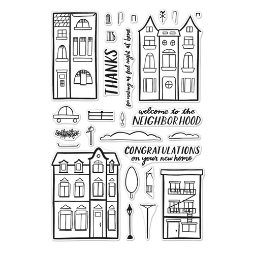 Hero Arts Clear Stamps WELCOME NEIGHBOR CM238 Preview Image
