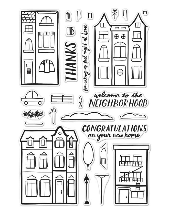 Hero Arts Clear Stamps WELCOME NEIGHBOR CM238 zoom image