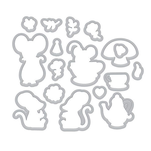 Hero Arts Frame Cuts MOUSE TEA PARTY Die Set DI466 Preview Image