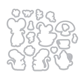Hero Arts Frame Cuts MOUSE TEA PARTY Die Set DI466