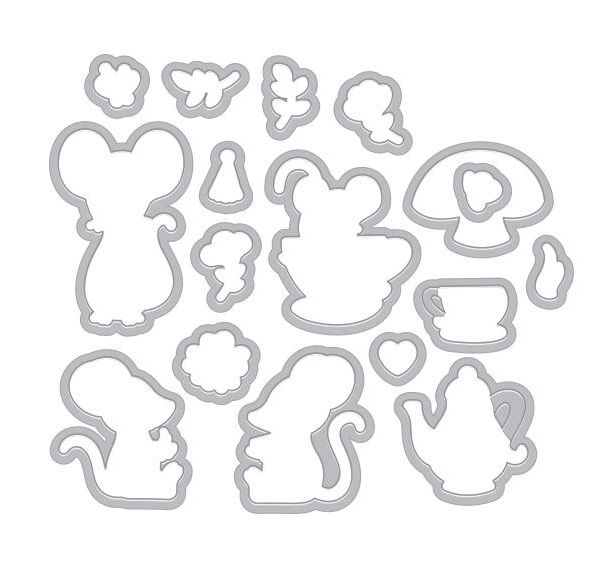 Hero Arts Frame Cuts MOUSE TEA PARTY Die Set DI466 zoom image