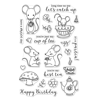 Hero Arts Clear Stamps MOUSE TEA PARTY CM235