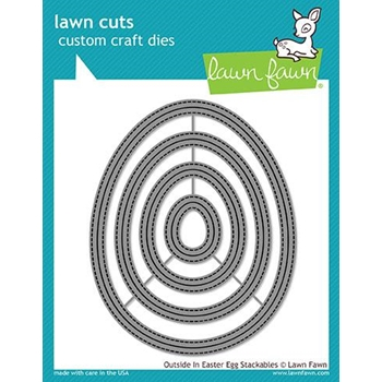 Lawn Fawn OUTSIDE IN EASTER EGG STACKABLES Lawn Cuts LF1627