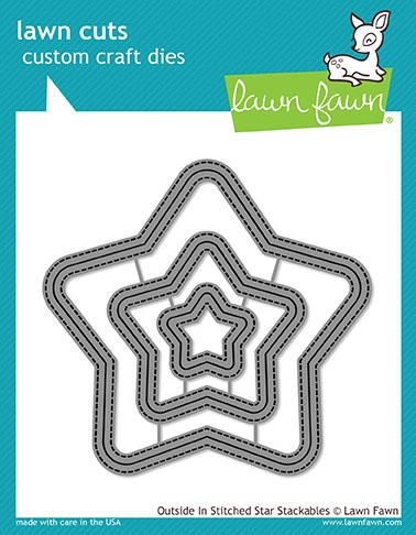 Lawn Fawn OUTSIDE IN STITCHED STAR STACKABLES Lawn Cuts LF1629 Preview Image
