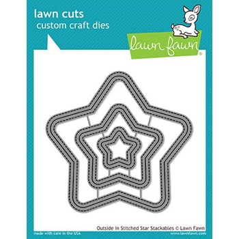 RESERVE Lawn Fawn OUTSIDE IN STITCHED STAR STACKABLES Lawn Cuts LF1629
