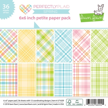 RESERVE Lawn Fawn PERFECTLY PLAID SPRING 6x6 Inch Petite Paper Pack LF1639