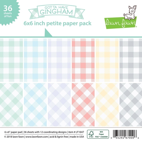 Lawn Fawn GOTTA HAVE GINGHAM 6x6 Inch Petite Paper Pack LF1647 Preview Image