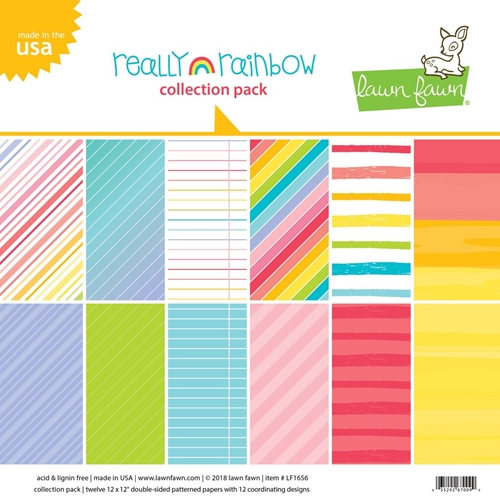 Lawn Fawn Really Rainbow 12x12 Collection Pacl