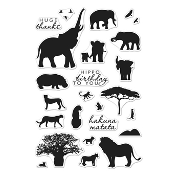 Hero Arts Clear Stamps SAFARI HUGE THANKS CM217