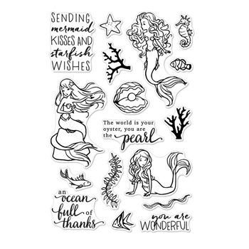Hero Arts Clear Stamps MERMAID KISSES CM160