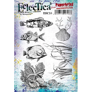 Paper Artsy ECLECTICA3 SCRAPCOSY 10 Rubber Cling Stamp ESC10