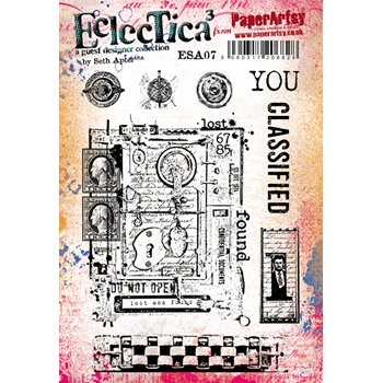 Paper Artsy SETH APTER 07 ECLECTICA3 Rubber Cling Stamp ESA07
