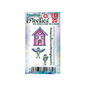 Paper Artsy ECLECTICA3 KAY CARLEY MINI 25 Rubber Cling Stamp EM25