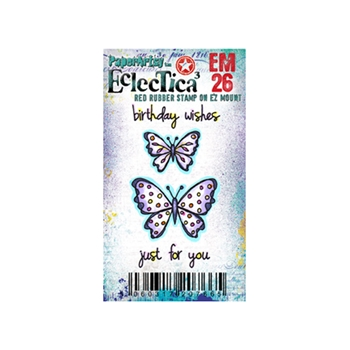 Paper Artsy ECLECTICA3 KAY CARLEY MINI 26 Rubber Cling Stamp EM26
