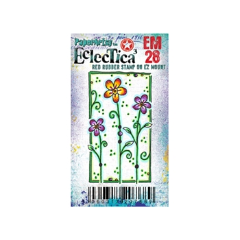 Paper Artsy ECLECTICA3 KAY CARLEY MINI 28 Rubber Cling Stamp EM28