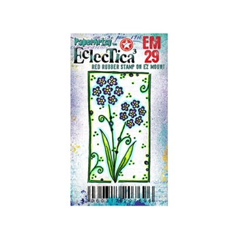 Paper Artsy ECLECTICA3 KAY CARLEY MINI 29 Rubber Cling Stamp EM29