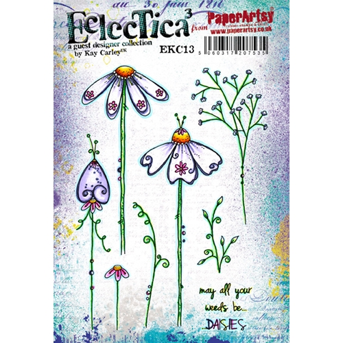 Paper Artsy ECLECTICA3 KAY CARLEY 13 Rubber Cling Stamp EKC13 Preview Image
