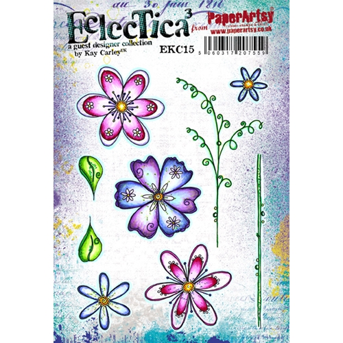 Paper Artsy ECLECTICA3 KAY CARLEY 15 Rubber Cling Stamp EKC15 Preview Image