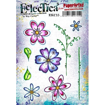 Paper Artsy ECLECTICA3 KAY CARLEY 15 Rubber Cling Stamp EKC15